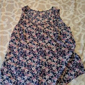 Floral Shell Tank Top